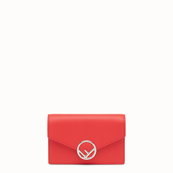 FENDI WALLET ON CHAIN - Red leather mini-bag - view 1 small thumbnail