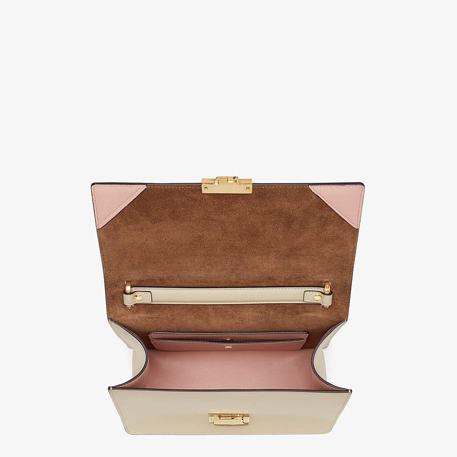 FENDI KAN U - Beige leather bag - view 5 detail