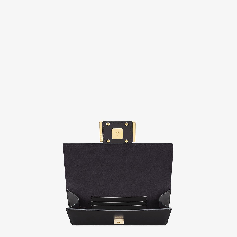 FENDI FLAT BAGUETTE - Black leather mini-bag - view 5 detail