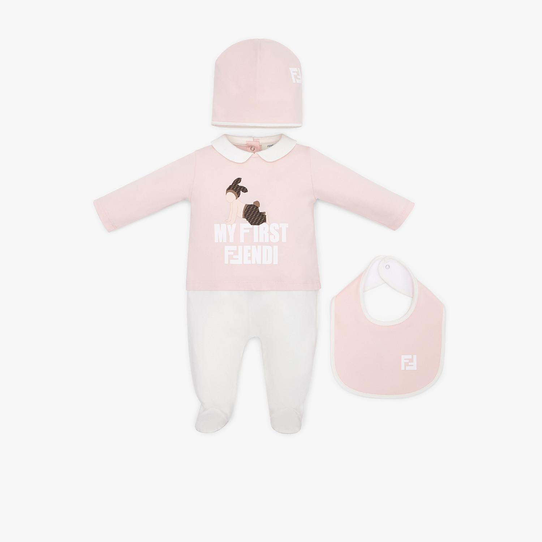 FENDI BABY'S KIT - Multicolour cotton baby kit - view 1 detail