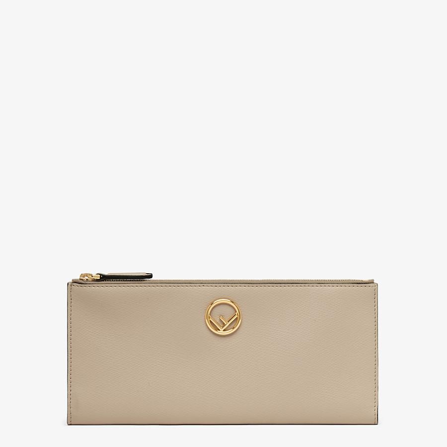 FENDI BIFOLD - Beige leather wallet - view 1 detail