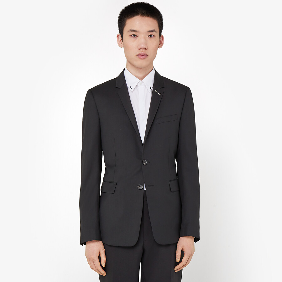 FENDI JACKET - Black wool blazer - view 6 detail