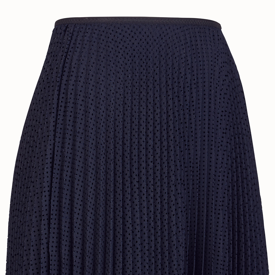 FENDI SKIRT - Blue mohair skirt - view 3 detail