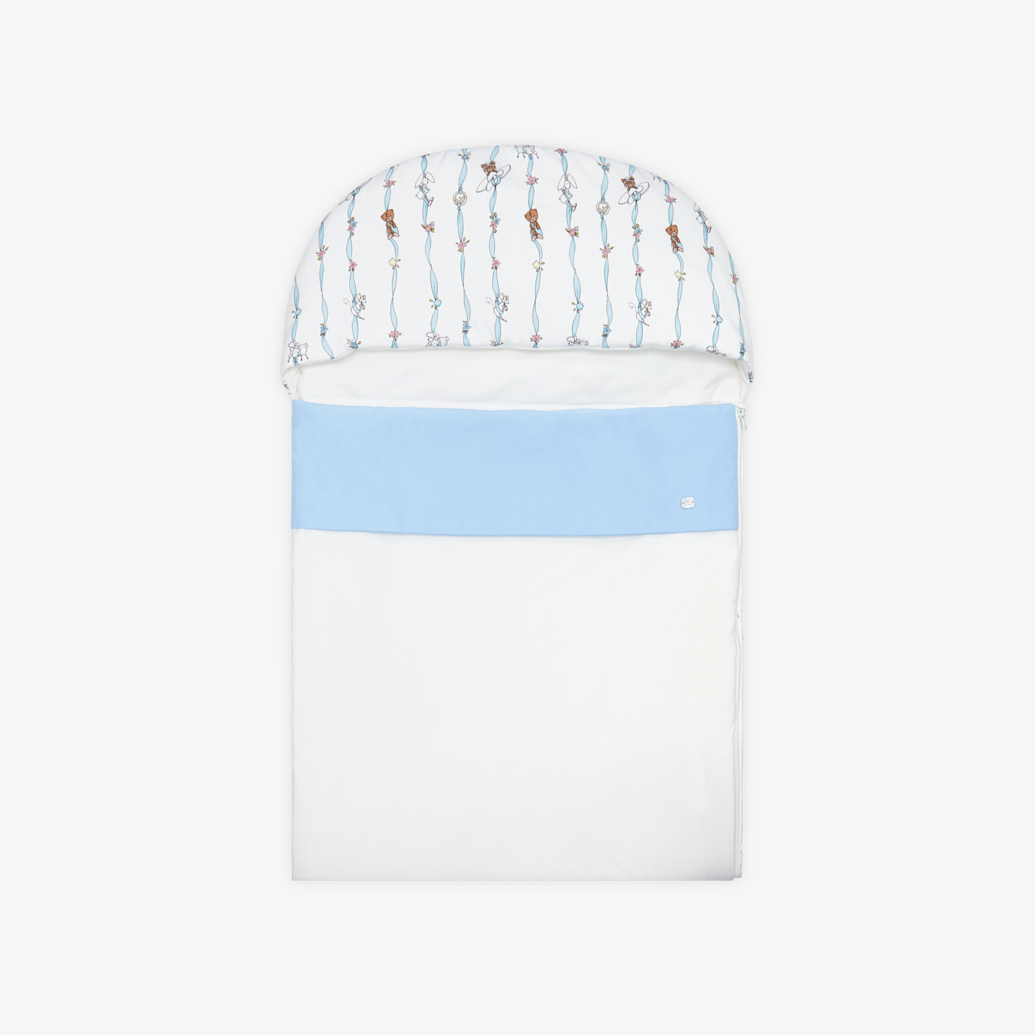 FENDI BABY SLEEPING BAG - Poplin and jersey baby sleeping bag - view 1 detail