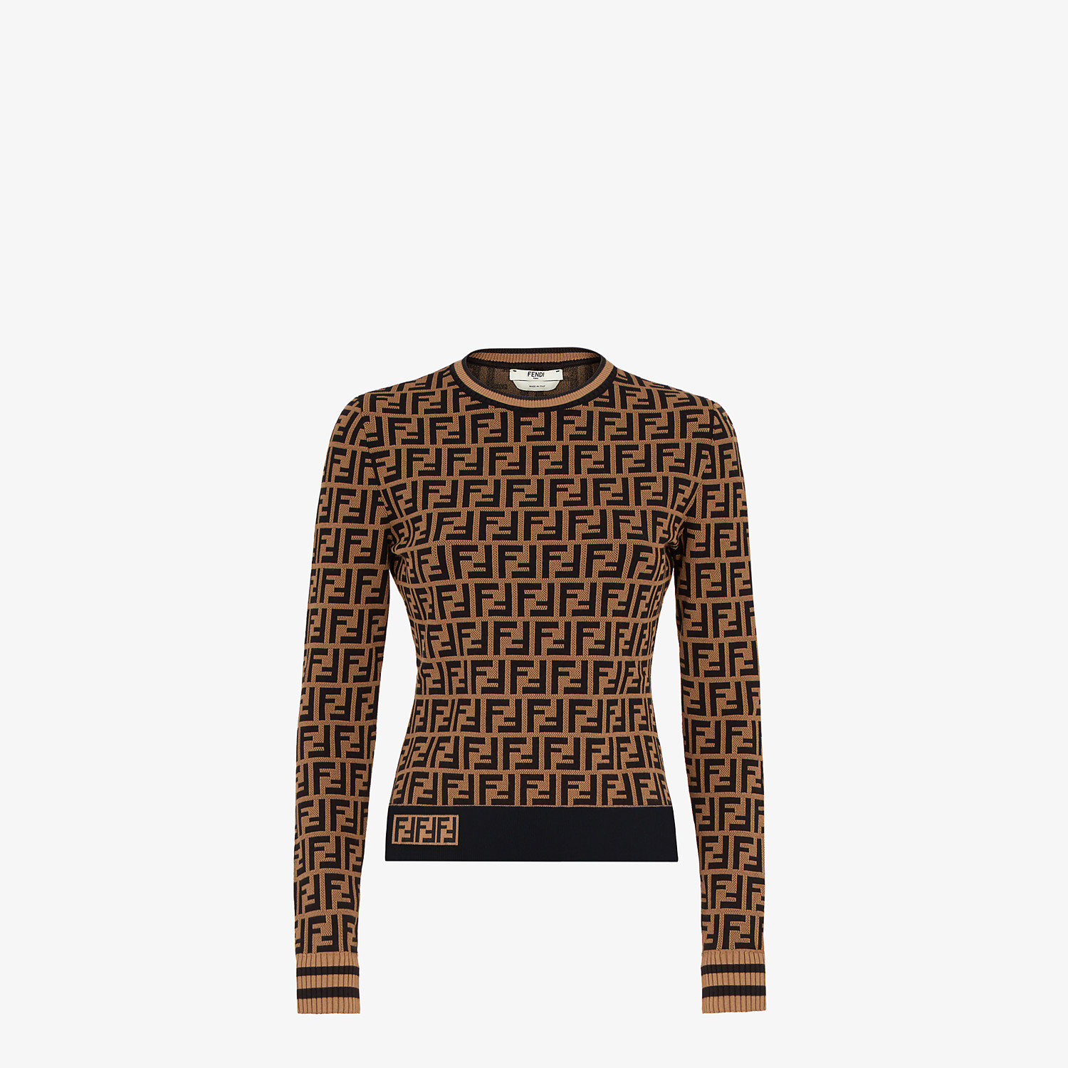 FENDI SWEATER - FF motif sweater - view 1 detail