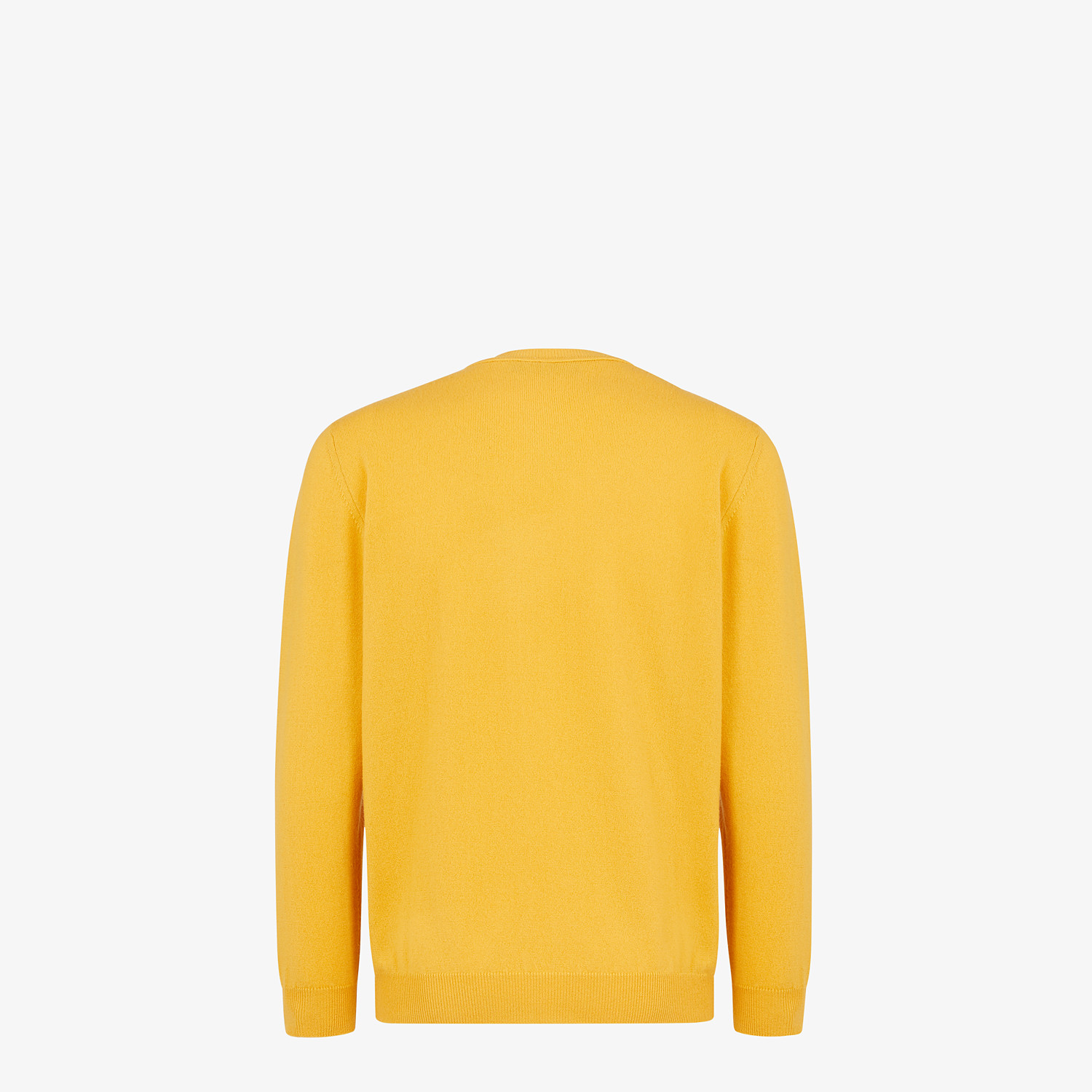 FENDI SWEATER - Yellow cashmere sweater - view 2 detail