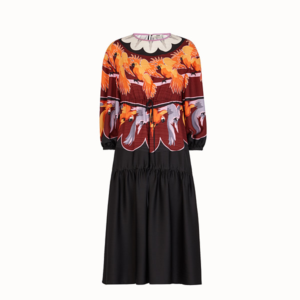 FENDI DRESS - Multicolour silk dress - view 1 small thumbnail