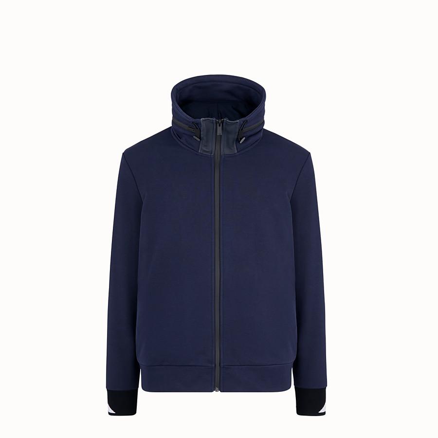 FENDI SWEATSHIRT - Blue cotton sweatshirt - view 1 detail