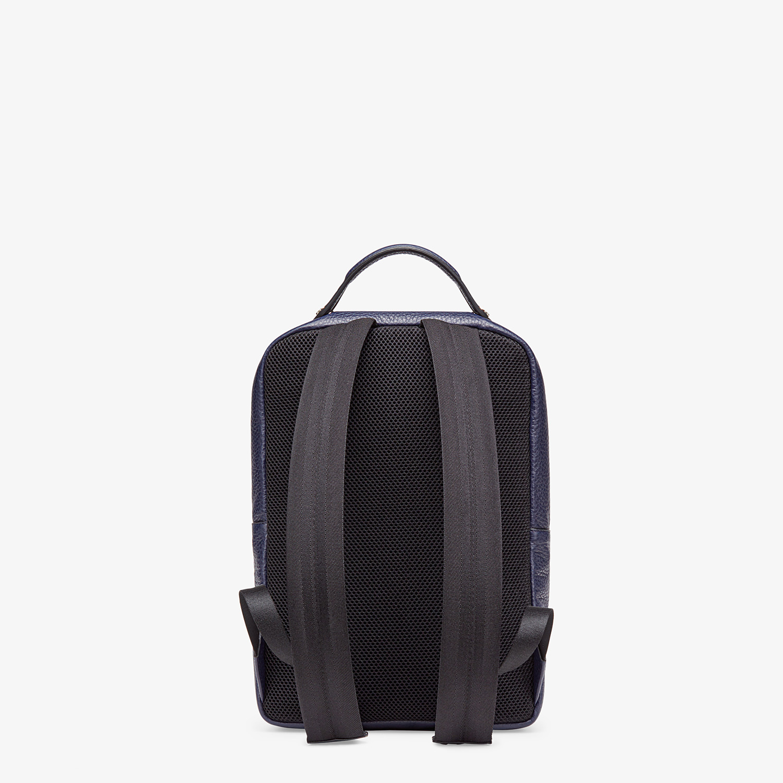 FENDI BACKPACK - Blue calf leather backpack - view 3 detail