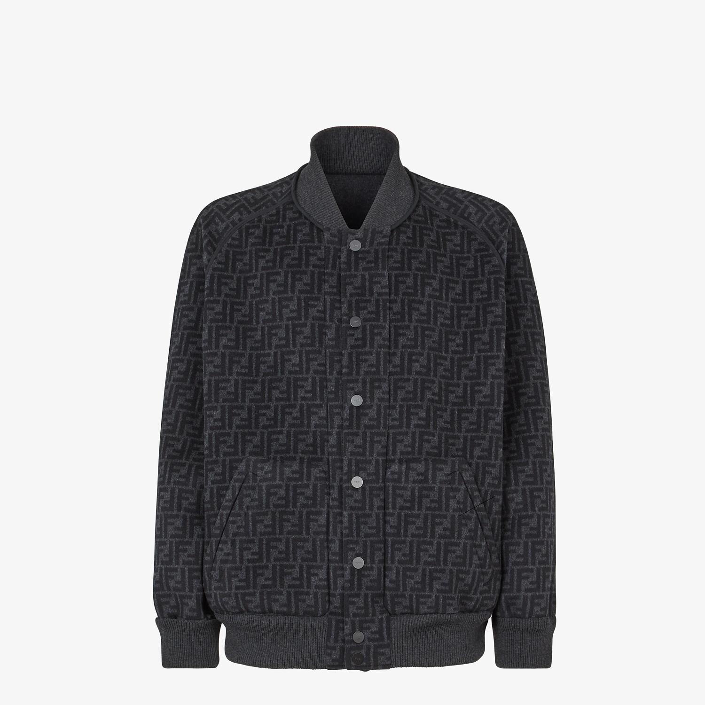 FENDI BOMBER JACKET - Grey wool jacket - view 5 detail