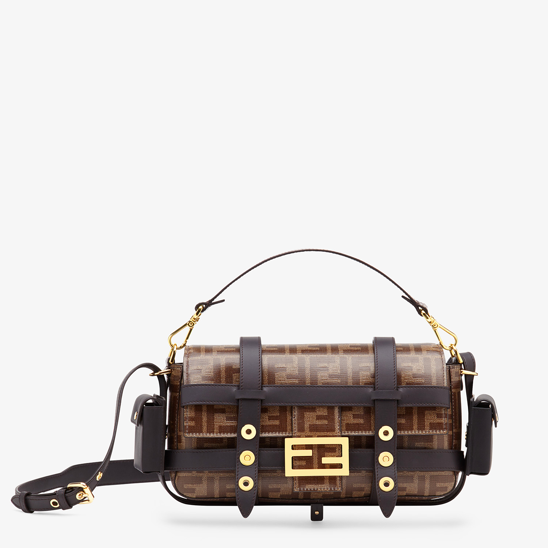 FENDI BAGUETTE CAGE - Brown fabric bag - view 1 detail