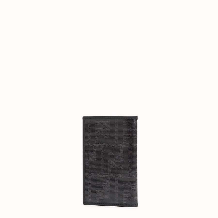FENDI CARD HOLDER - Black fabric wallet - view 2 detail