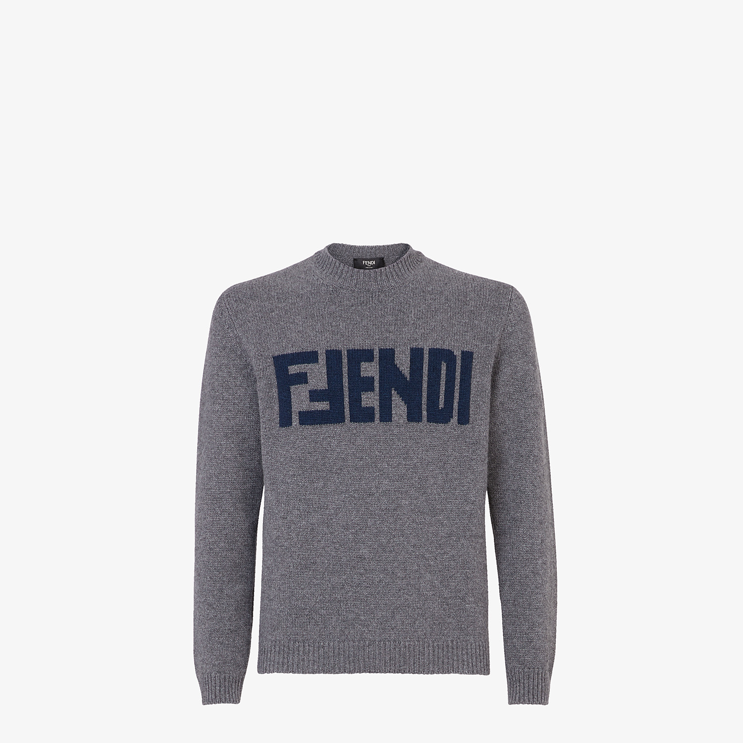 FENDI SWEATER  - Gray cashmere sweater - view 1 detail