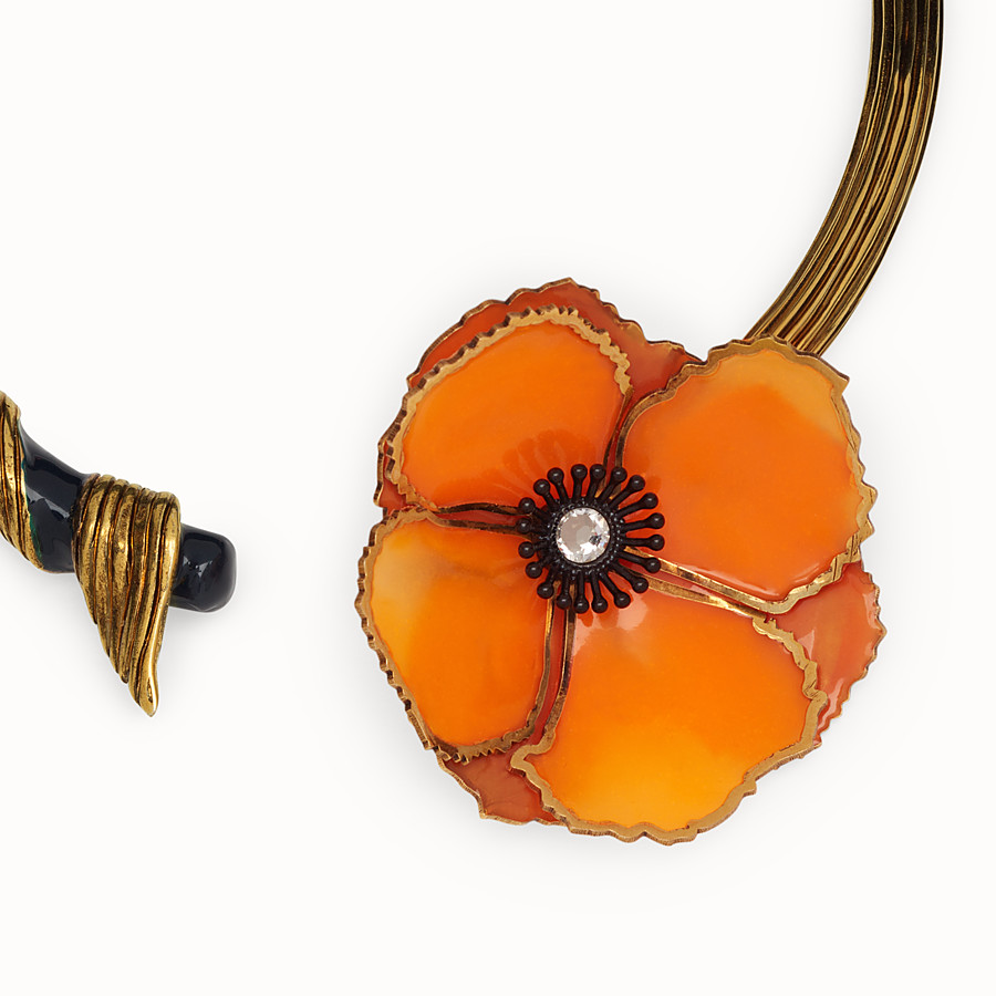 FENDI CHOKER FLOWERS - Multicolour necklace - view 2 detail