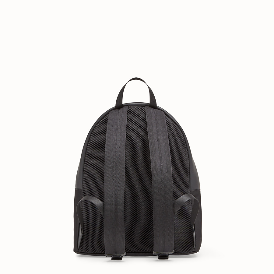 FENDI BACKPACK - Nylon and black leather backpack - view 3 detail