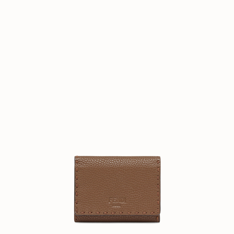 FENDI CARD HOLDER - Brown leather business card holder - view 1 detail