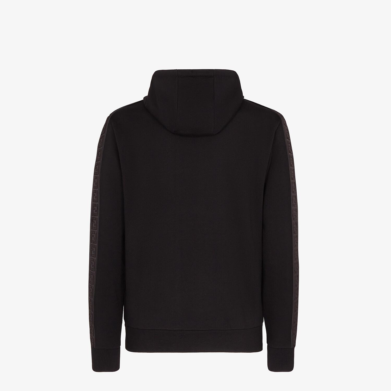 FENDI FELPA - Felpa in jersey nero - vista 2 dettaglio