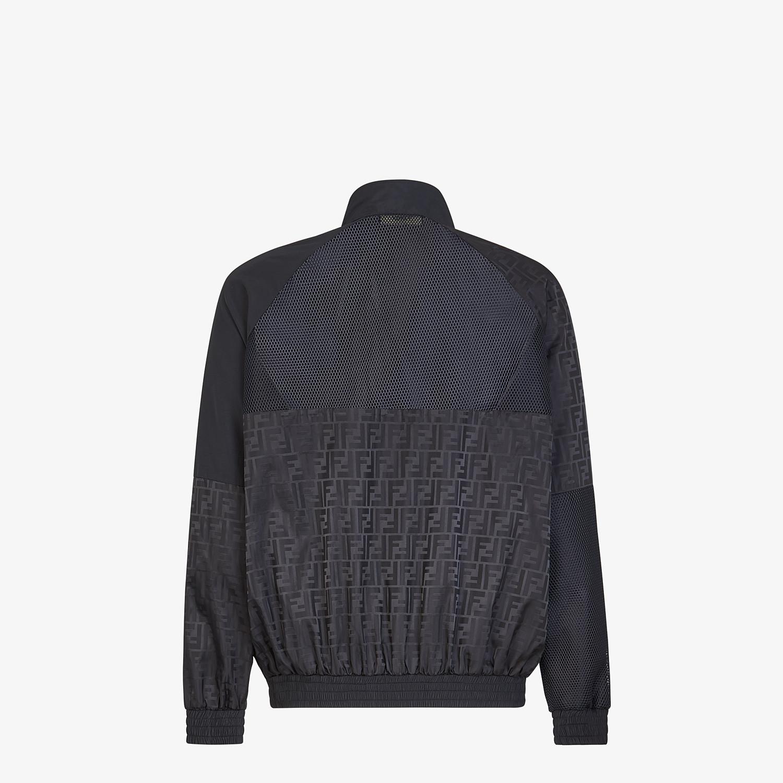 FENDI BLOUSON JACKET - Black nylon sweatshirt - view 2 detail