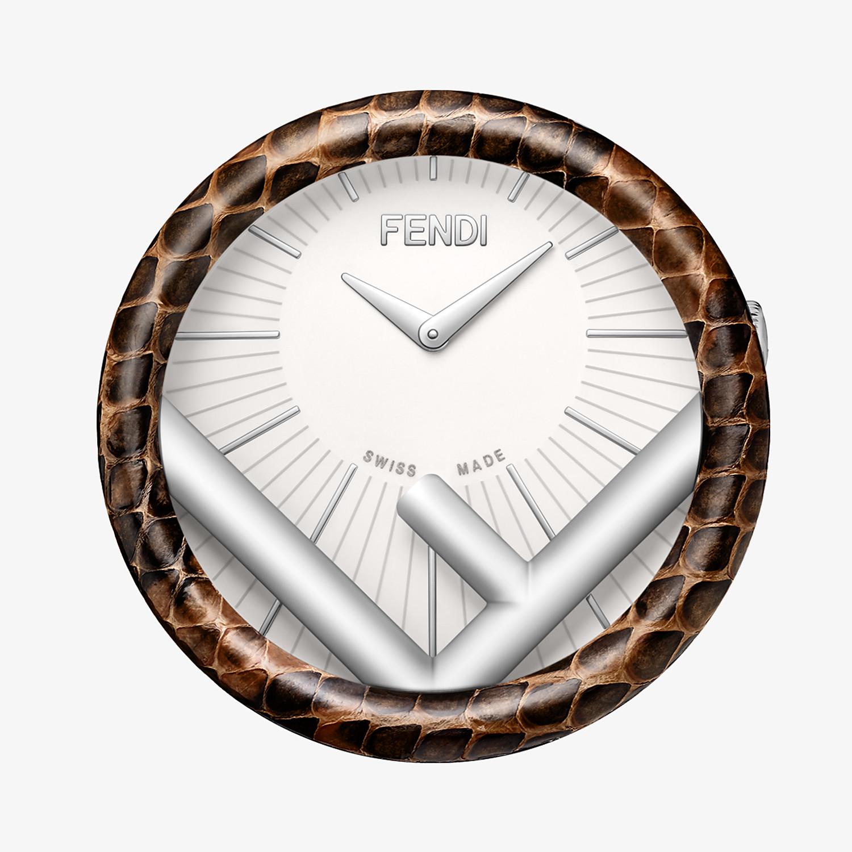 FENDI RUN AWAY TABLE CLOCK - 60 mm - Table Clock with F is Fendi logo - view 2 detail