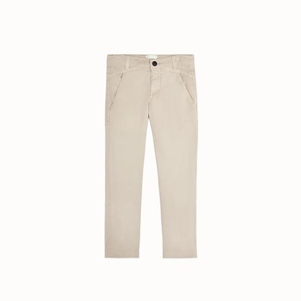 FENDI TROUSERS - Quinoa colour cotton trousers - view 1 small thumbnail