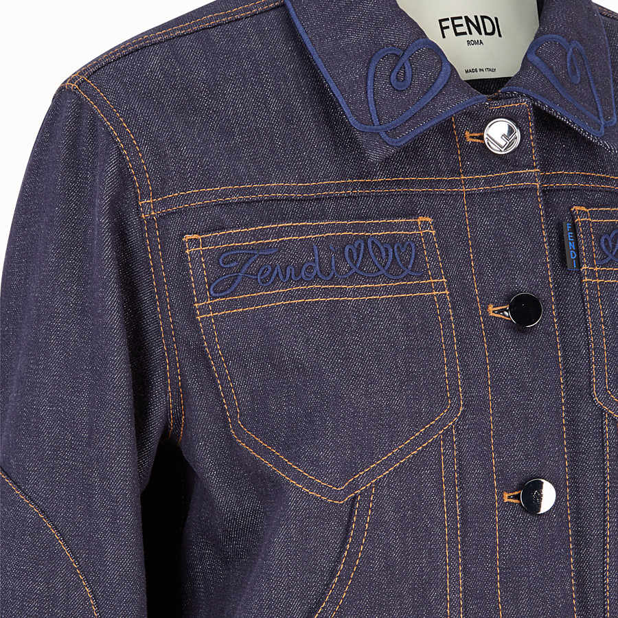 FENDI JACKET - Blue denim jacket - view 3 detail