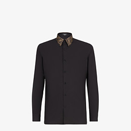 FENDI SHIRT - Black cotton shirt - view 1 thumbnail