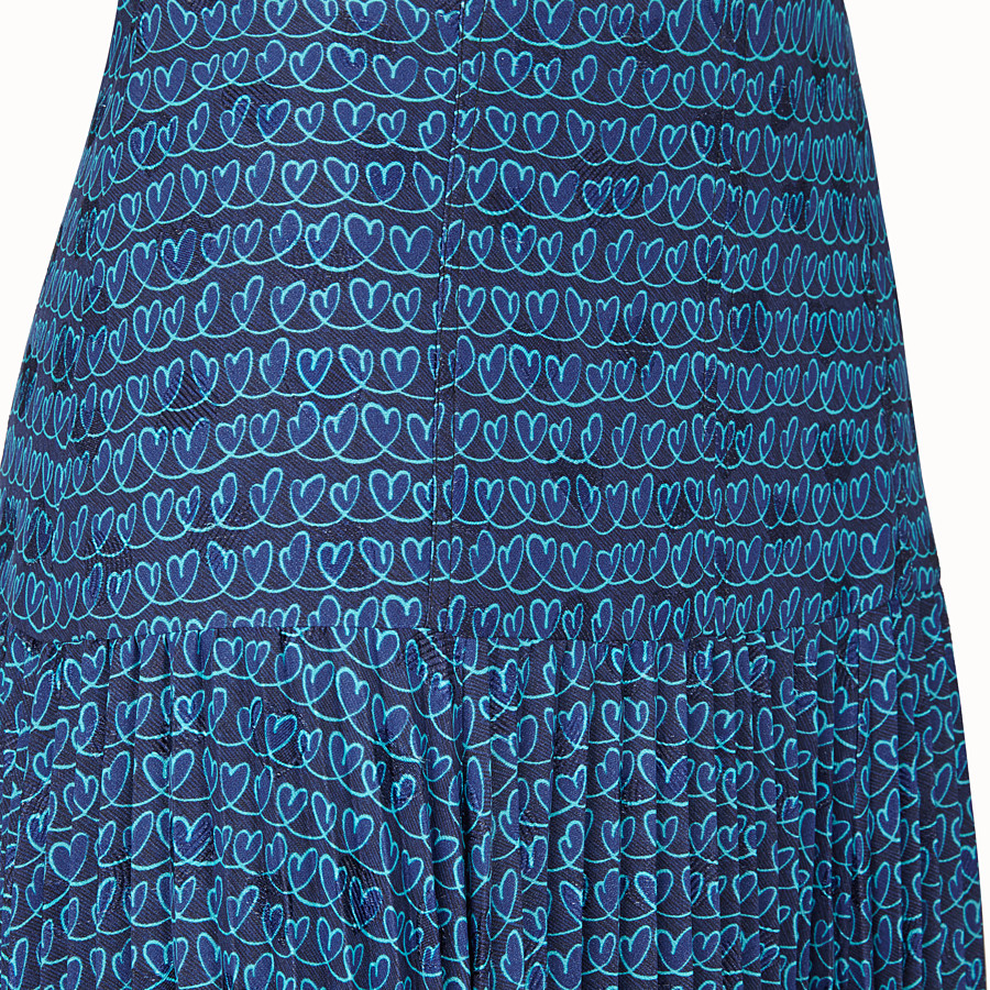 FENDI SKIRT - Blue satin skirt - view 3 detail