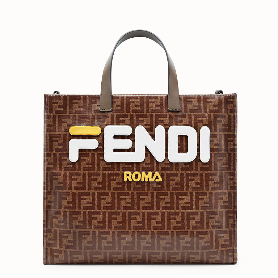 FENDI SHOPPER - Multicolour fabric bag - view 1 detail