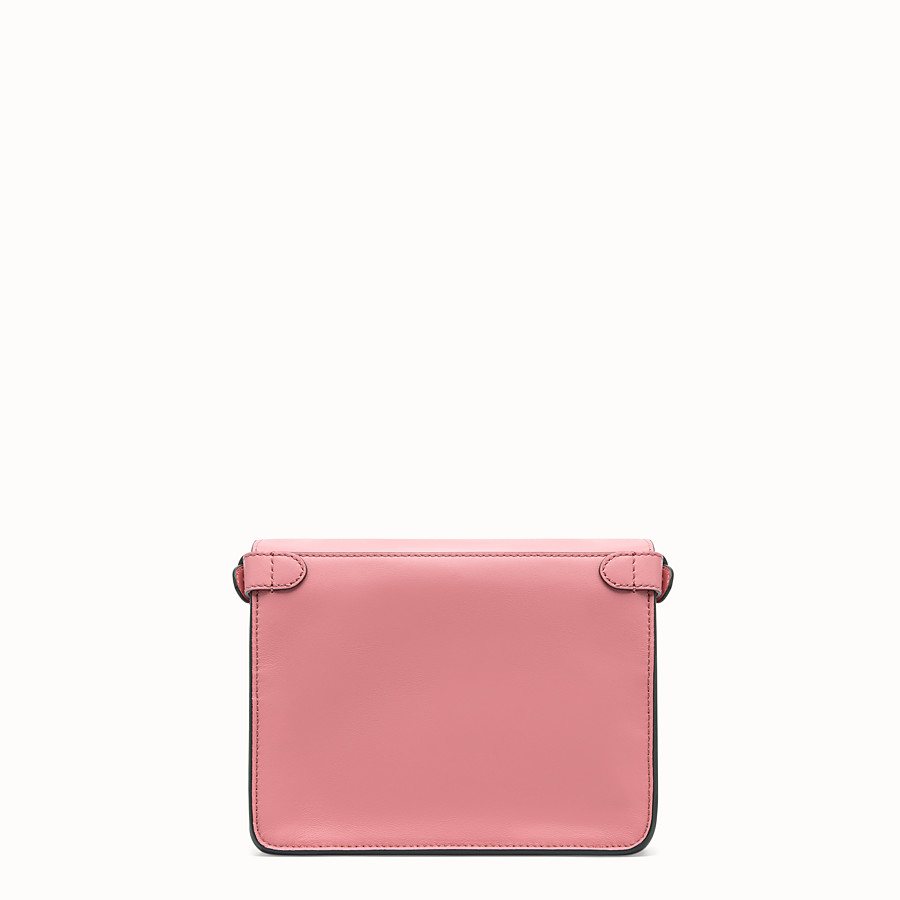 FENDI FENDI FLIP SMALL - Pink leather bag - view 4 detail