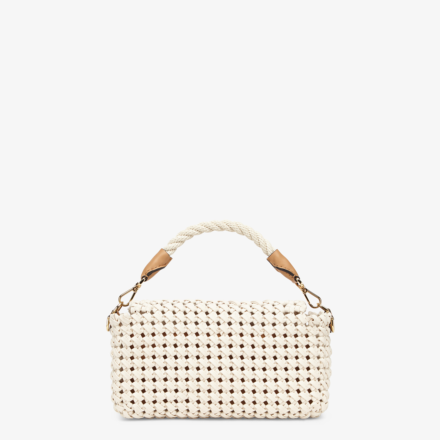 FENDI BAGUETTE - Tasche aus geflochtenem Canvas in Beige - view 4 detail
