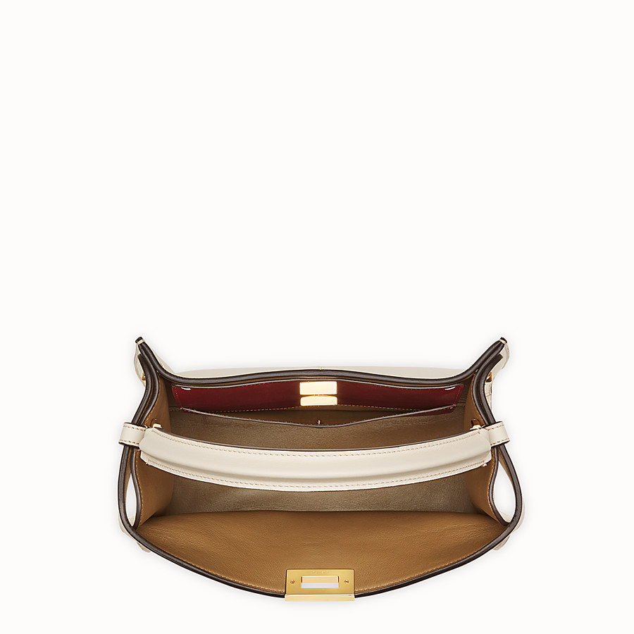 FENDI PEEKABOO X-LITE REGULAR - White leather bag - view 5 detail