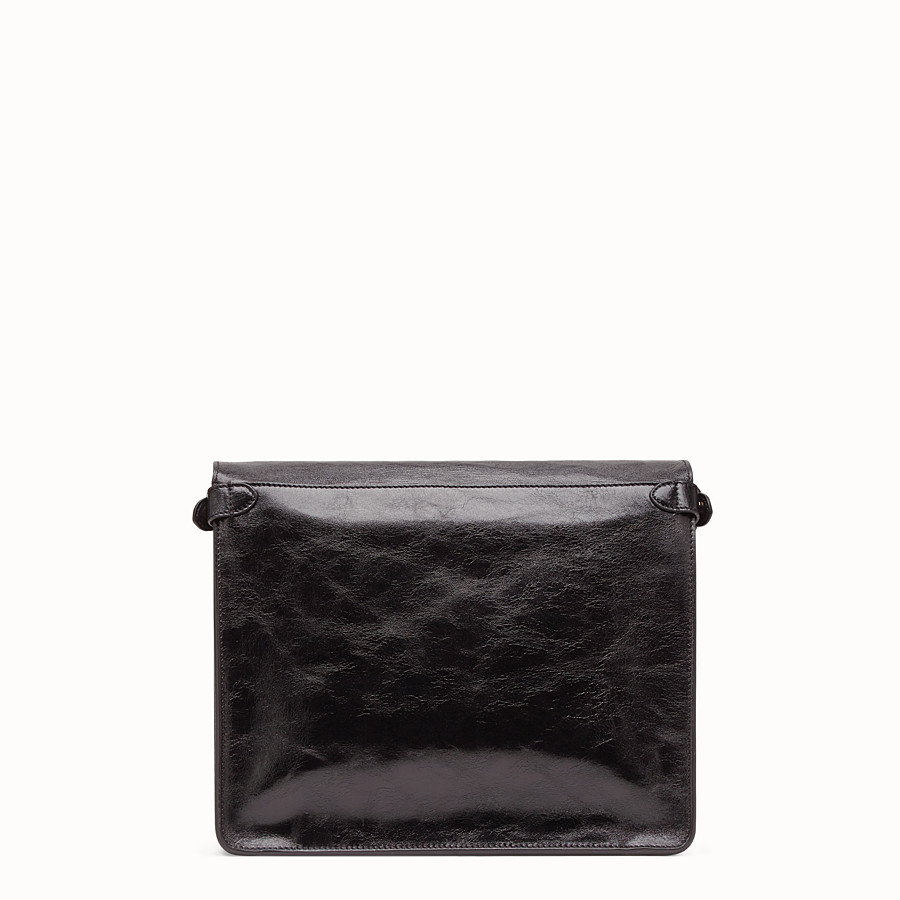FENDI FENDI FLIP LARGE - Black leather bag - view 5 detail