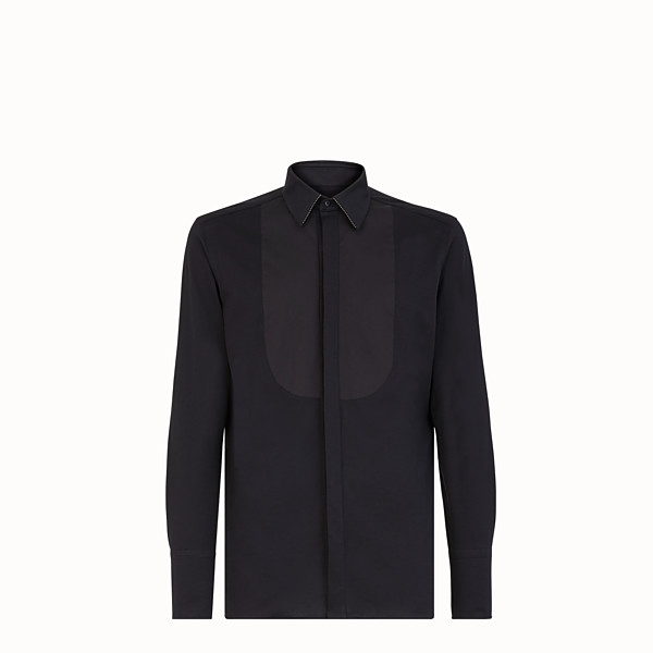 FENDI SHIRT - Black jersey shirt - view 1 small thumbnail