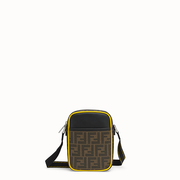 FENDI SMALL MESSENGER - PU and black leather cross-body bag - view 1 small thumbnail