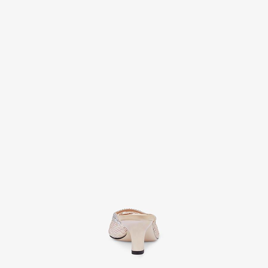 FENDI SLINGBACK - Colibrì en filet et cuir nude - view 3 detail