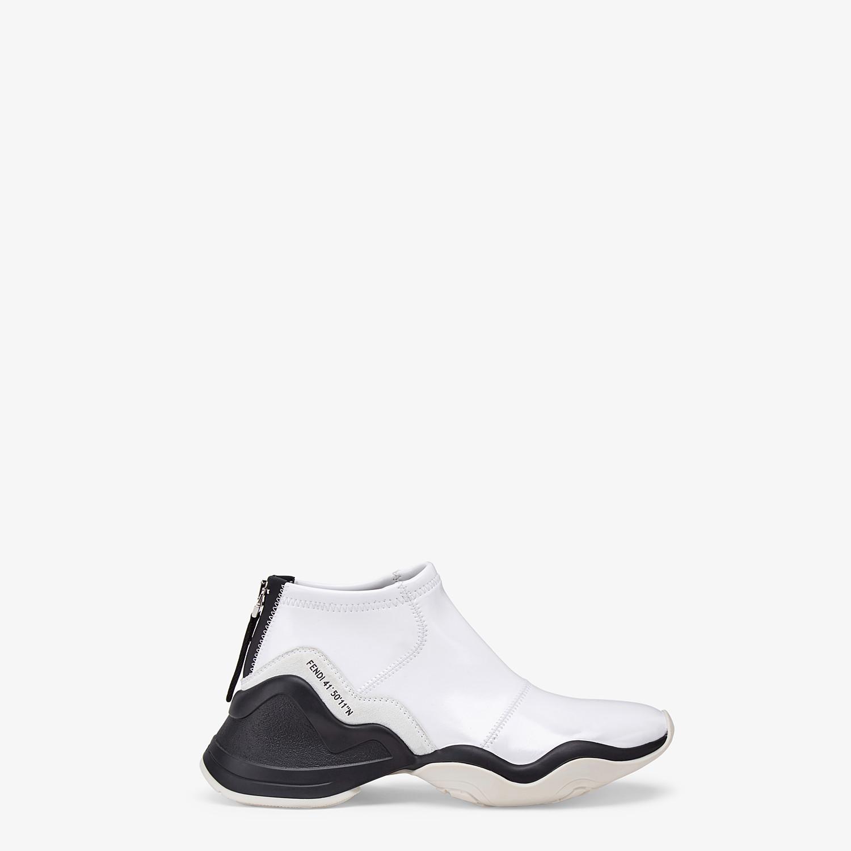 FENDI SNEAKER - Sneaker in glossy neoprene bianca - vista 1 dettaglio