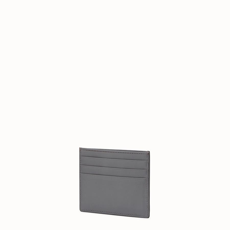 FENDI KARTENETUI - Kartenetui aus grauem Leder mit sechs Steckfächern - view 2 detail