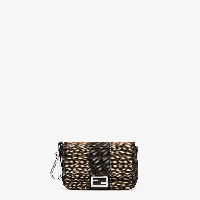 FENDI NANO BAGUETTE CHARM - Brown fabric charm - view 1 detail