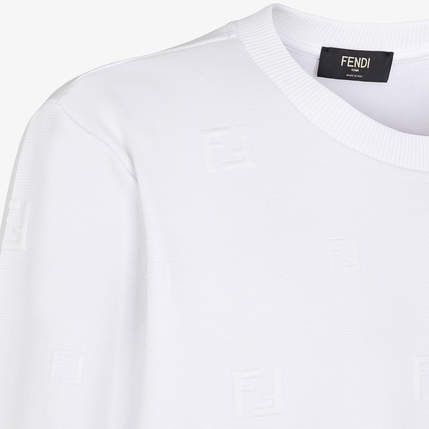FENDI SWEATSHIRT - White cotton sweatshirt - view 3 detail