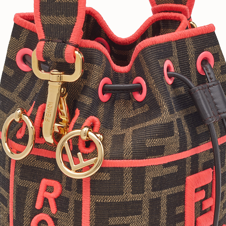 FENDI MON TRESOR - Fendi Roma Amor fabric mini-bag - view 6 detail