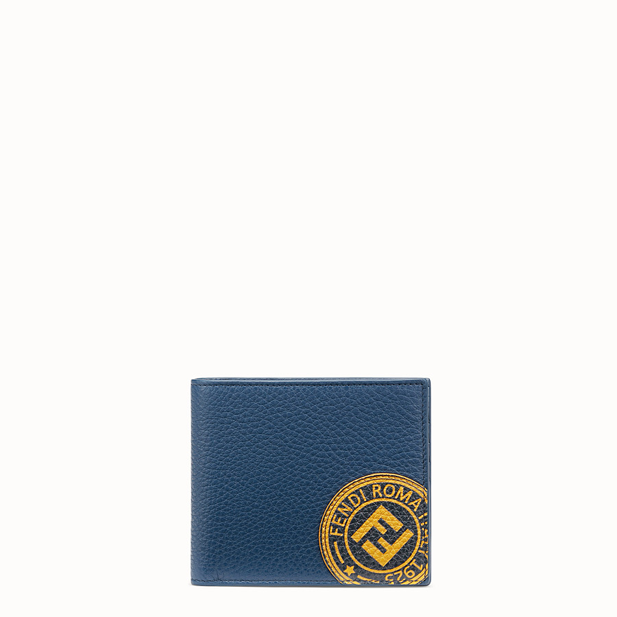 FENDI WALLET - Blue leather bi-fold wallet - view 1 detail