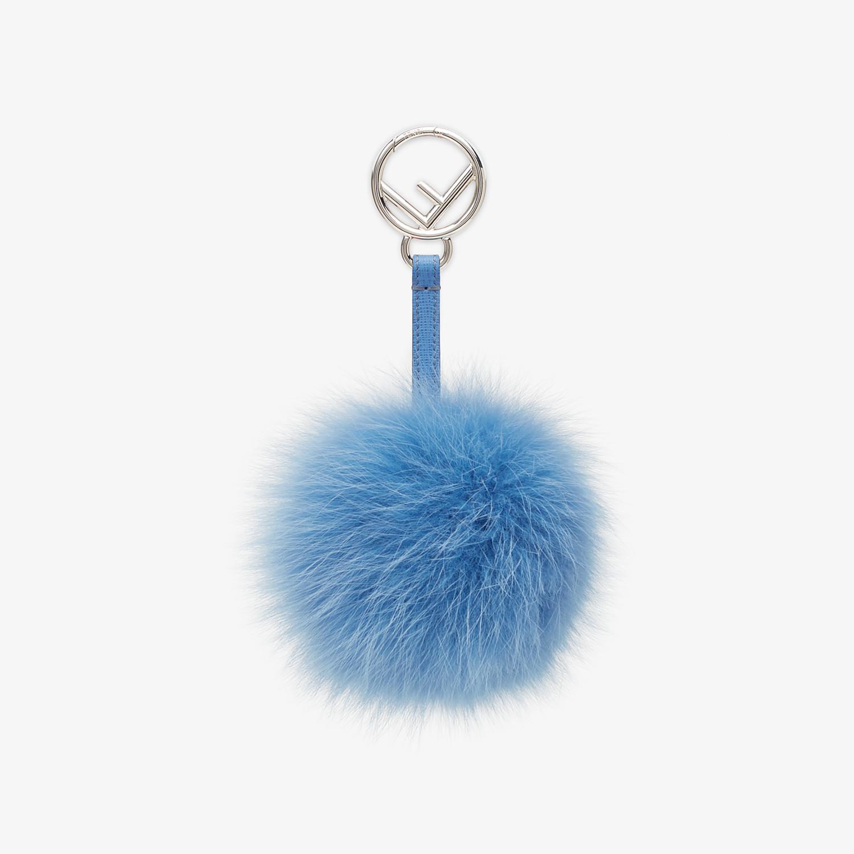 FENDI POM-POM CHARM - in light blue fur - view 1 detail
