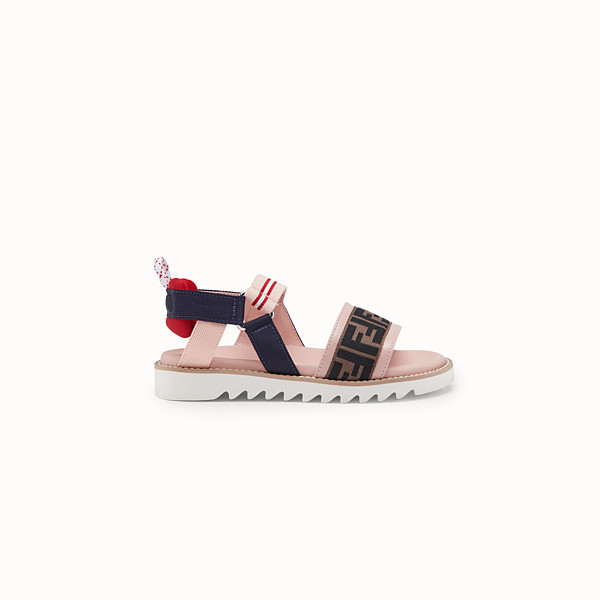 FENDI SANDALS - Pink neoprene sandals - view 1 small thumbnail
