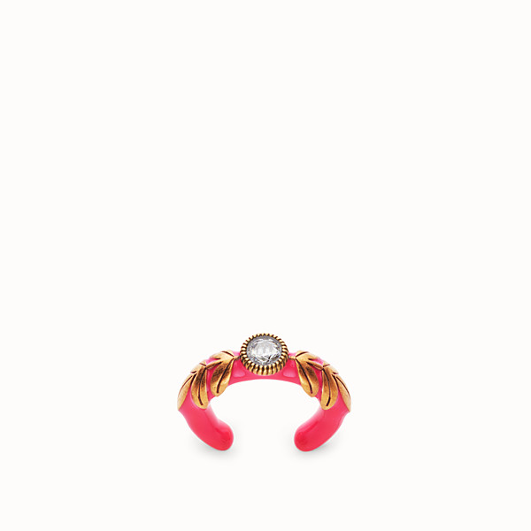FENDI JULIUS CAESAR RING  - Ring in Gold und Fuchsia - view 1 small thumbnail