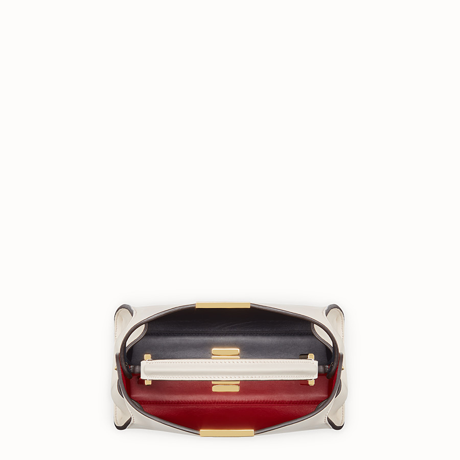 FENDI PEEKABOO ESSENTIAL - White leather bag - view 4 detail