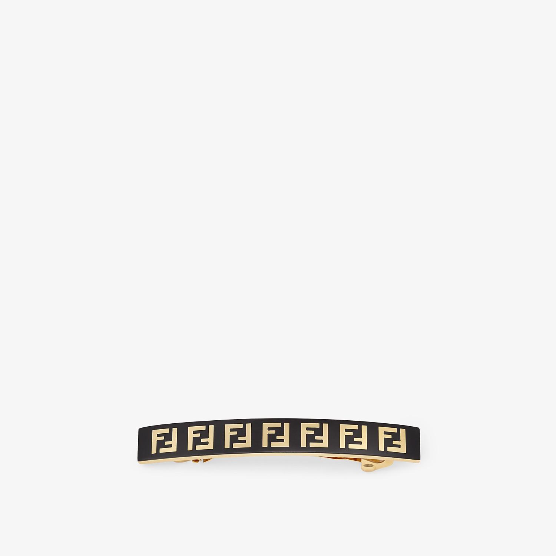 FENDI HAIR CLIP - Black metal hair clip - view 1 detail