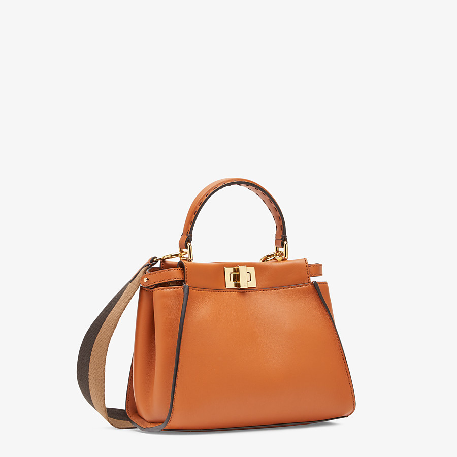 FENDI PEEKABOO ICONIC MINI - Brown leather bag - view 2 detail