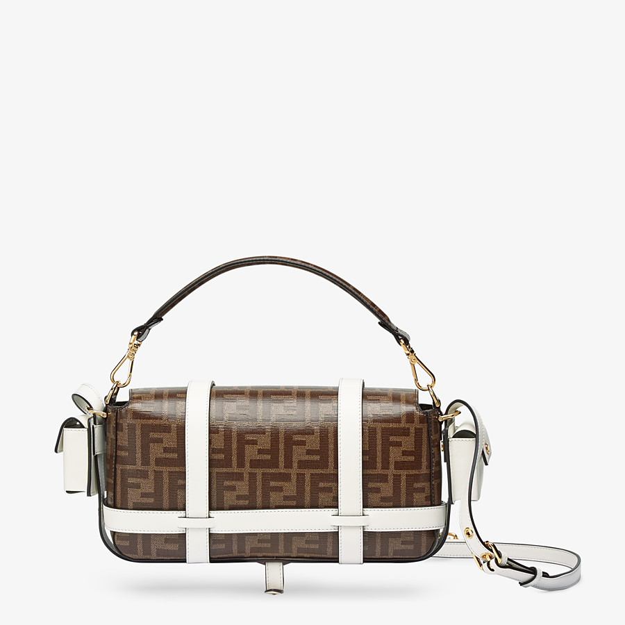 FENDI BAGUETTE CAGE - Brown fabric bag - view 4 detail
