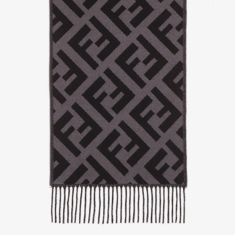 FENDI SCARF - Black cashmere scarf - view 1 detail
