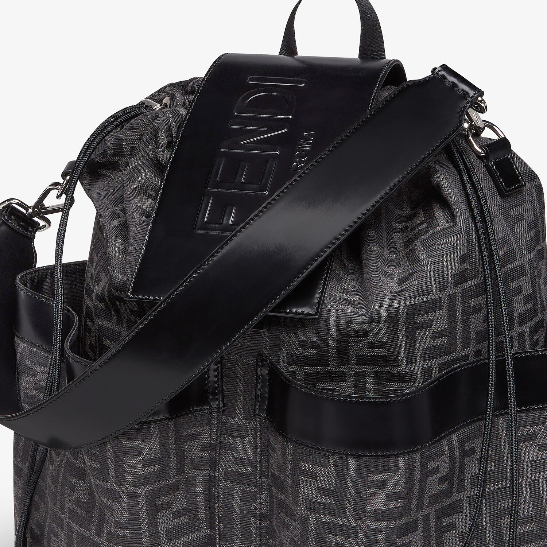 FENDI DRAWSTRING BACKPACK - FF jacquard fabric backpack - view 4 detail